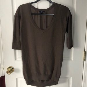 Gap Sweater 3/4 Sleeve, polyester backing. XS